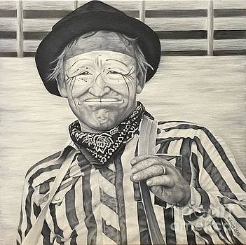 Buck LeGrand Rodeo Clown by Emily Young