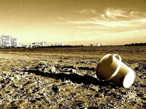 Bucket on Beach by Natalia Radziejewska