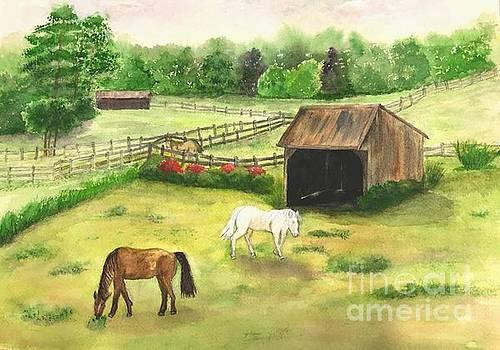 Bucks County Horse Farm by Lucia Grilletto