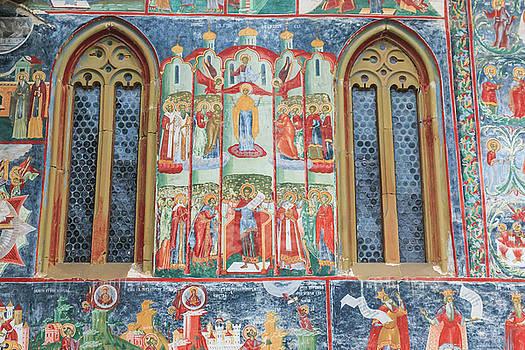 Bucovina Monastery Fresco by Emily M Wilson