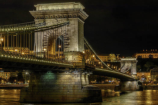 Budapest Chain Bridge by Steven Sparks