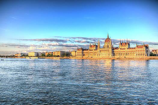 Budapest Danube Sunset by David Pyatt