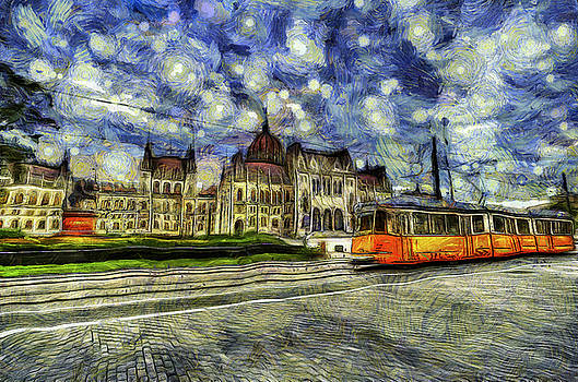 Budapest Parliament Vincent Van Gogh by David Pyatt