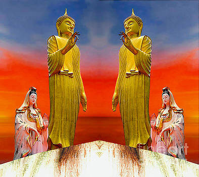 Buddha And Quan Yin Asian Gods by Ian Gledhill