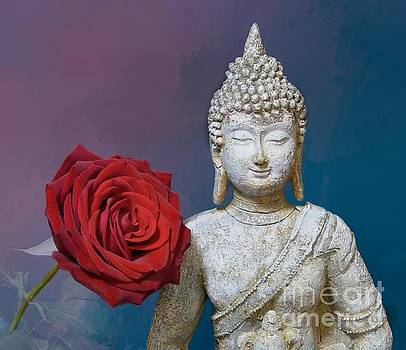 Buddha and Rose by Pete Trenholm