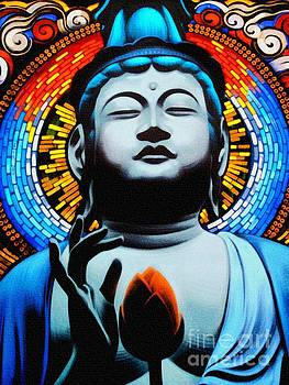 Buddha And The Flower by Ian Gledhill