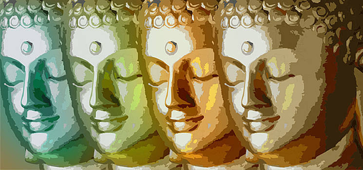 Buddha Faces by Sneha Waghmare