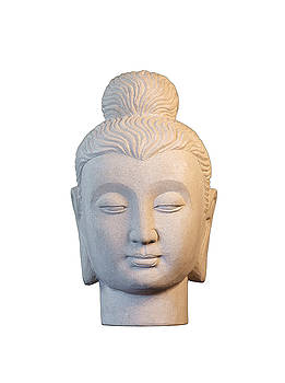 Buddha head - Gandhara  by Terrell Kaucher