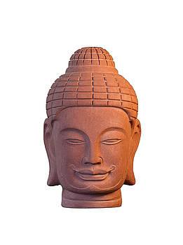 Buddha head - Khmer 3 by Terrell Kaucher