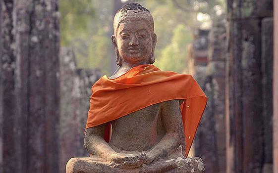 Buddha in orange by Timothy Leonard