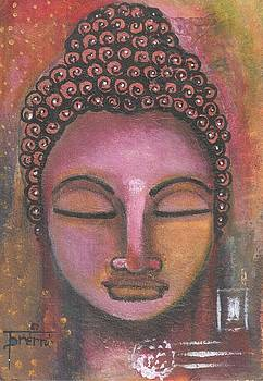 Buddha in shades of purple by Prerna Poojara