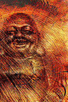 Buddha in wood by 2bhappy4ever