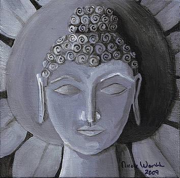Buddha With a Stone Lotus by Nicole Werth