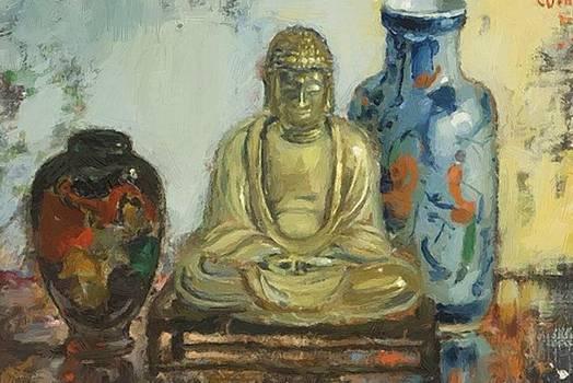 Wenning Pieter - Buddha With Two Vases