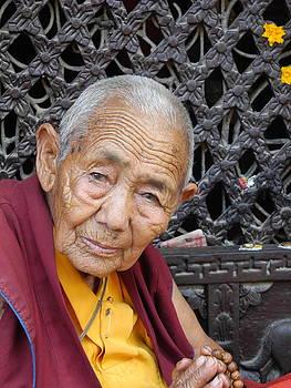 Buddhist Monk Kathmandu by Pauline Margarone