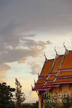 Sophie McAulay - Buddhist temple at dawn