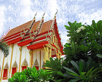 Buddhist Temple by Russell Pittock