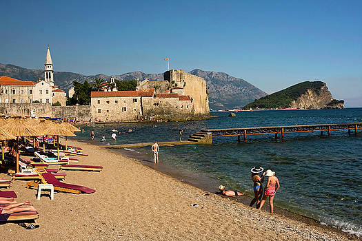 Budva Beach by Sally Weigand