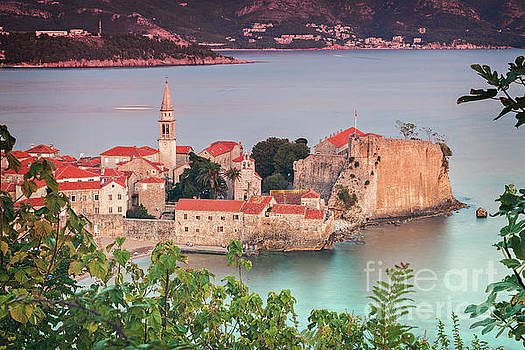 Budva town aerial view by Sophie McAulay