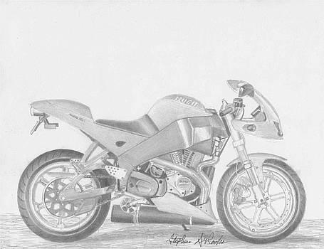 Buell XB12R Firebolt MOTORCYCLE ART PRINT      by Stephen Rooks