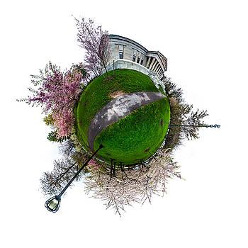 Chris Bordeleau - Buffalo Cherry Blossoms - Tiny Planet 1