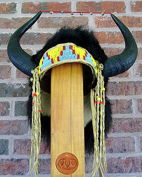 Buffalo Horn Headress by Roger D Hale
