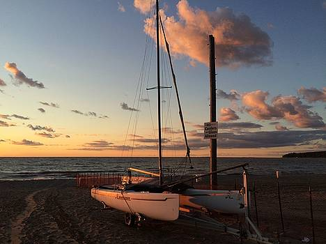 Buffalo Sailboat Sunset by Mark Weber