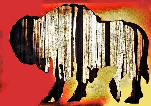 Wooden Buffalo 3 by Larry Campbell