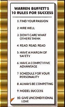 Buffet Ten Rules of Success by Mario Carini