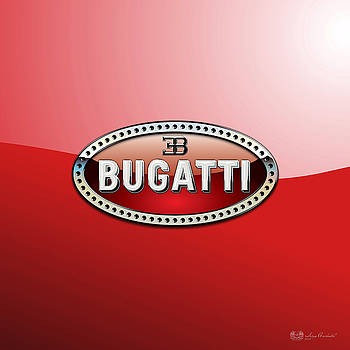 Serge Averbukh - Bugatti - 3 D Badge on Red