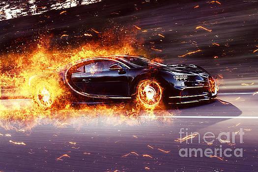Vadim Pavlov   Bugatti Chiron Fire