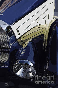 Bugatti Type 57 in blue and white by Curt Johnson