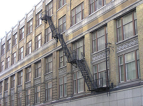 Building and Fire Escape by Richard Mitchell