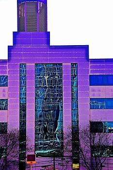 Building In Purple by Gillis Cone
