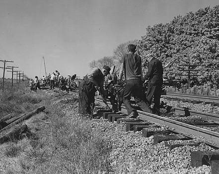 Chicago and North Western Historical Society - Working on Rail Line - 1957