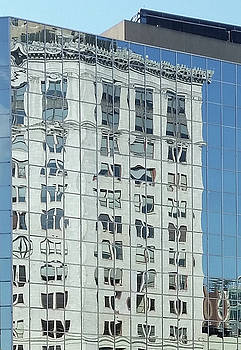 Building reflection Downtown Grand Rapids Mi by Kevin Snider