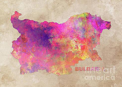 Justyna Jaszke JBJart - Bulgaria map