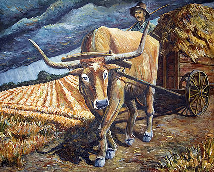 Bull at the Wagon by Paula Blasius McHugh
