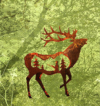 Bull Elk by Larry Campbell