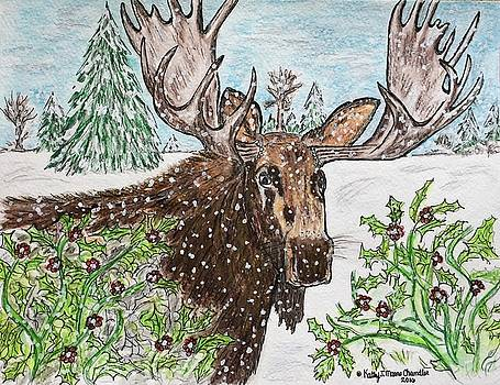 Bull Moose in The Wilderness by Kathy Marrs Chandler