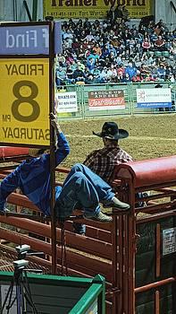 Chris Honeyman - Bull riders at the rodeo. Fort Worth 2013