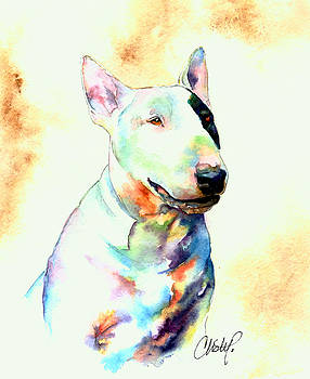 Christy  Freeman - Bull Terrier Dog Portrait