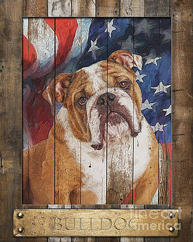 Bulldog  Flag Poster by Tim Wemple