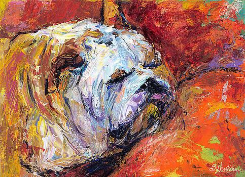 Svetlana Novikova - Bulldog Portrait painting impasto
