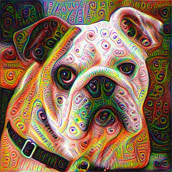 Bulldog surreal deep dream image by Matthias Hauser