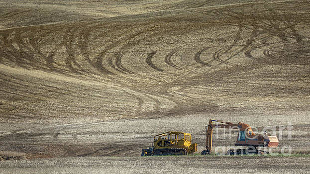Bulldozer and Excavator by Jerry Fornarotto