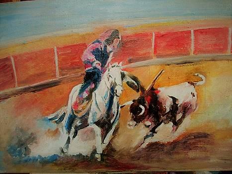 Bullfighting by Khalid Saeed