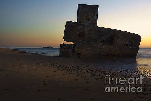 Bunker and Sancti Petri Lighthouse San Fernando Cadiz Spain by Pablo Avanzini