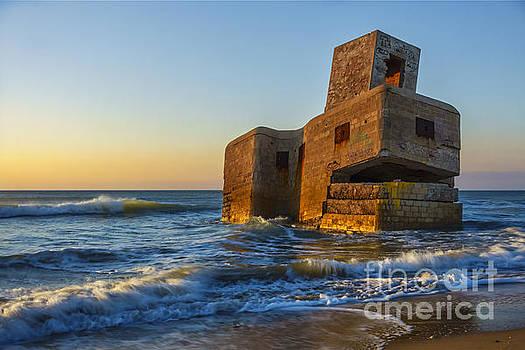 Bunker at Camposoto Beach San Fernando Cadiz Spain by Pablo Avanzini