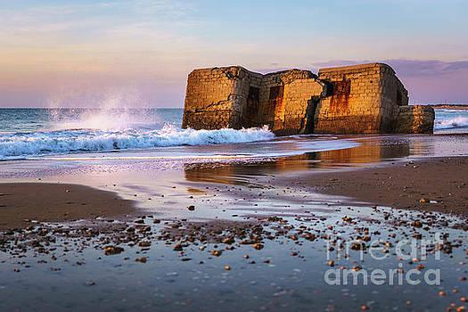 Bunker in Camposoto Beach San Fernando Cadiz Spain by Pablo Avanzini